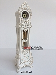 Working Dollhouse Miniature Grandfather Clock White V4010E-WT 1:12 scale